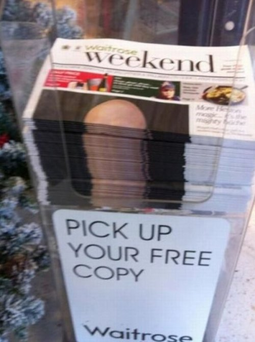 collegehumor:   Phallic Newspaper Stack  That's a big story they're breaking.