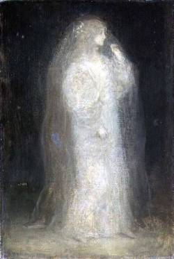 Matthijs Maris - The Bride, or Novice taking the Veil, c 1887