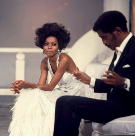 blackfashion:  Diana Ross and Sammy Davis Jr.
