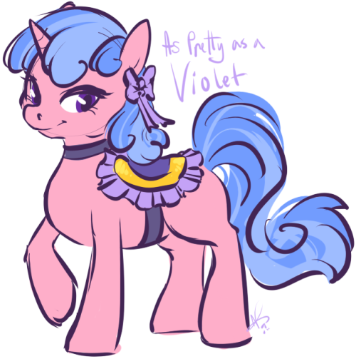 [Artist: Someone on DA requested art of this background pony named Violet. So uh.. Here's Violet.]