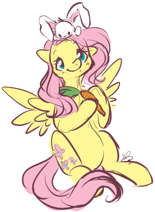 [Artist: Another person on DA requested some Fluttershy. So I doodled this really fast.]