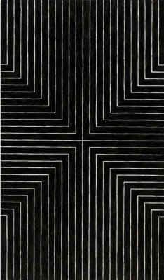 namopanik:  Frank Stella, Die Fahne Hoch, 1959 […] Frank Stella gave this black painting a provocative title. Die Fahne Hoch! is named after the anthem of the Nazi Party, the Horst Wessel Lied, and is one of several paintings in the series that make direct reference to Nazism. By applying a hotly emotive title to the image, Stella's ironic purpose was that of destabilizing the idea of meaning itself.