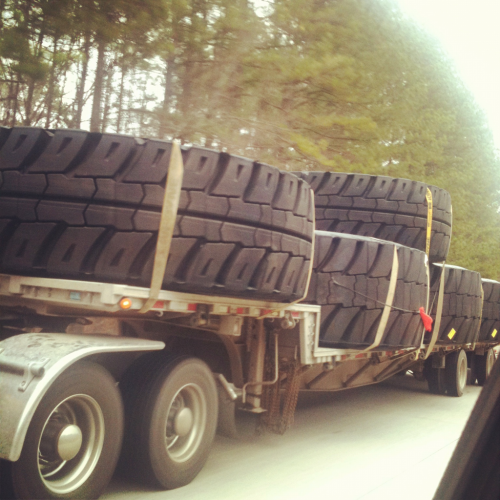 1:20pm - On I20: Tires for Godzilla?