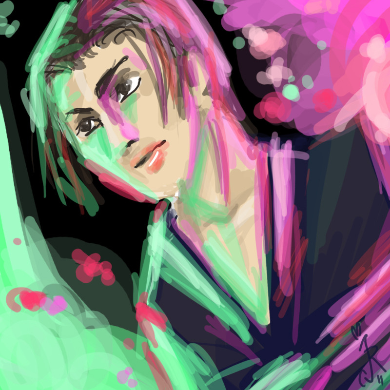 onsunlightwings:  oops I doodled Yoshi  Fan sketch of GACKT in BUNRAKU! If you have any fan art, please let us know and we'll feature it here.
