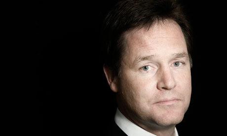Nick Clegg was shaving with his electric razor, but the power ran out halfway and he couldn't find the charger, so he had to go to the shops with half a beard.  http://twitter.com/#!/SadNickClegg