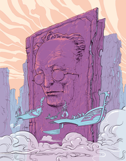 "MOEBIUS! for @robotwhales, via: brandnewnostalgia:  MOEBIUS: Jorge Coelho ""First time I saw Moebius work I was astonished by the creativity and craftsmanship of the french genius. So I wanted to to him justice. It was quite difficult, this was the third take… but it was worth the work."" - Jorge Coelho"