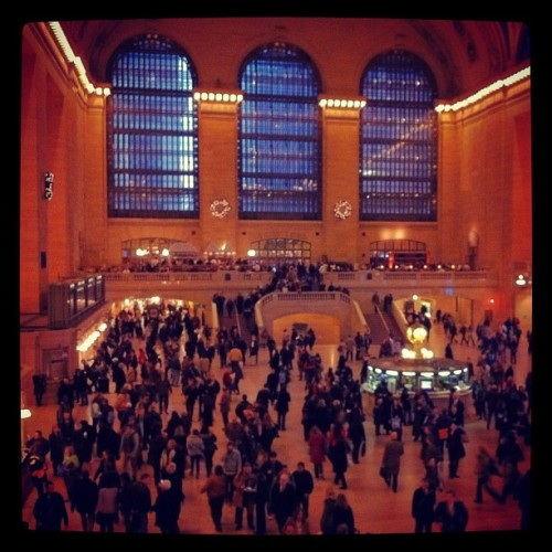 Grand Central Station: from the steps of the new Apple store (Taken with instagram)