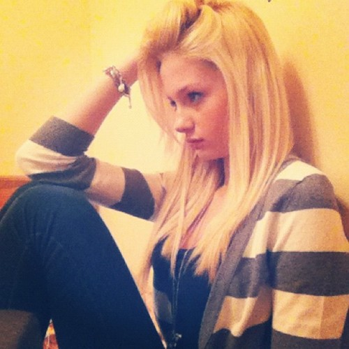 #me #blonde #girl #deep #in #thought #thinking #dreaming #hoping #iphone #photo #random #strange #awesome #guys #shit #confusion #problems #instagram  (Taken with instagram)