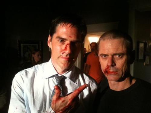 Hotch and Foyet (BTS, 100) - From       @CThomasHowell