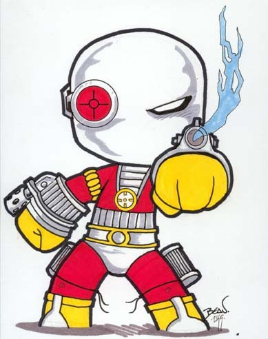 Chibi-Deadshot. by ~hedbonstudios  I want to own him!