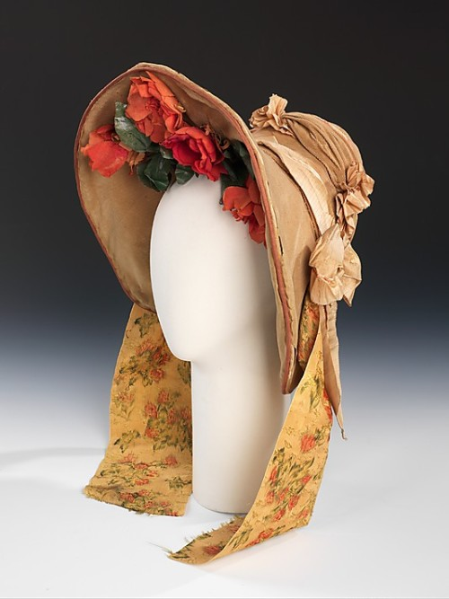 Wedding bonnet, 1837 US, the Met Museum