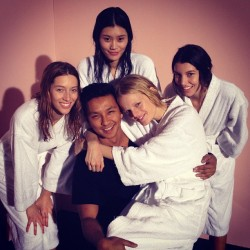 prabalgurung:  Charlie and his angels? Thank you @fordmodels  (Taken with instagram)