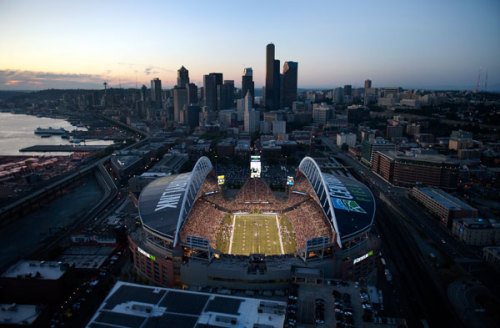 stadium-love-:  CenturyLink Field: Home of the Seattle Seahawks Photo courtesy of the Seattle Seahawks & submitted by deltaomega.