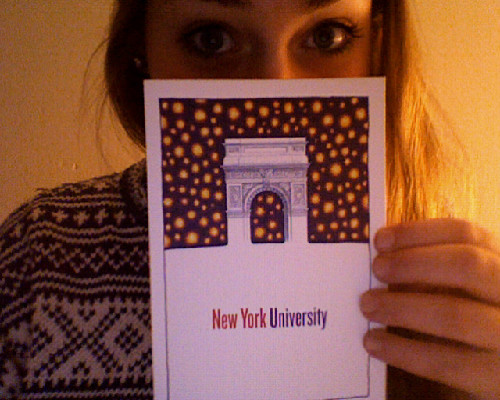 NYU sent me a christmas card!