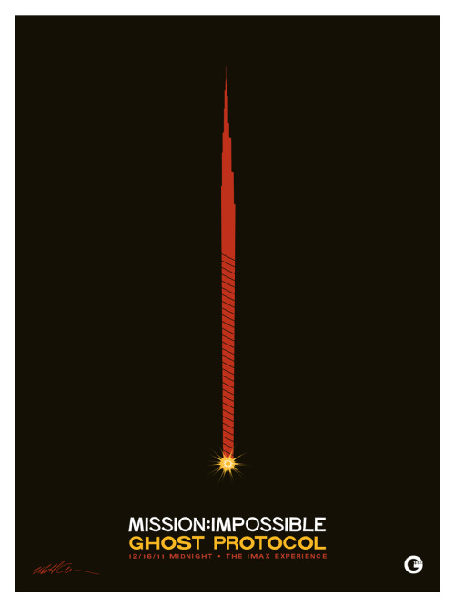 fuckyeahmovieposters:  Mission: Impossible - Ghost Protocol by Matt Owen