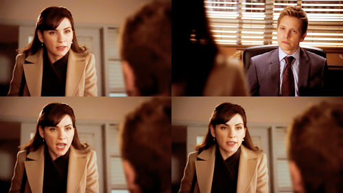"""Blah blah blah blah blah you bring Kalinda to me now.""  #do you think cary went into a broom closet and cried"