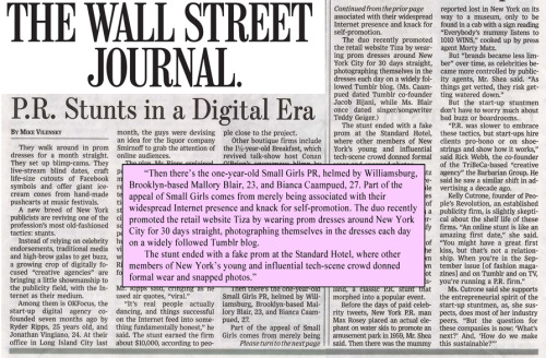 We were featured in today's Wall Street Journal alongside two of our favorite digital creative agencies!