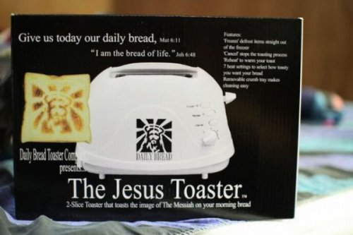 The Jesus Toaster  The perfect way to make your Grilled Cheesus Christ.