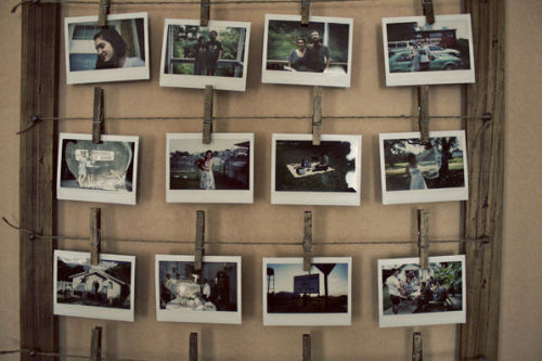 (via DIY Instant Photo Display Made From a Wood Lattice and Clothespins)