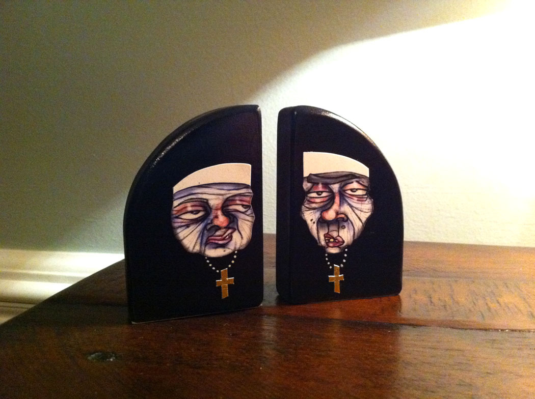 Meet Sister Cadillac and Sister Mercedes! Created for Artists in Cellophane…check them out at an Art-O-Mat machine near you.