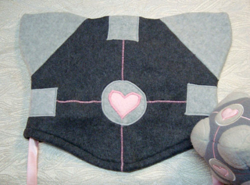 Portal Companion Cube Kitty Hat