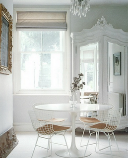 Clean and modern with a little shabby chic = lovely. thedecorista:  the whites.