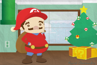 Mario Christmas! :) Appropriate for the Holidays. Enjoy~ My Portfolio | Flavors |
