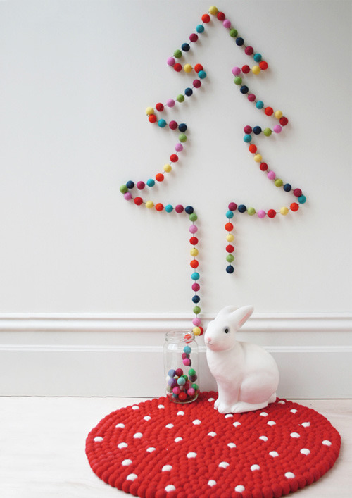 notjanebond:  (via garland christmas tree | the style files)