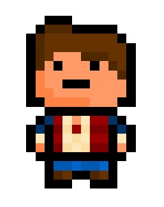 "pixelblock:  Marty Mcfly, the world's second time-traveller and protagonist of the ""Back To The Future"" saga.   Also goes by the names ""Darth Vader"", ""Clint Eastwood"" and ""Calvin Klein"", although in different time periods. Obviously.  Requested by:http://gingerfuckingale.tumblr.com/"
