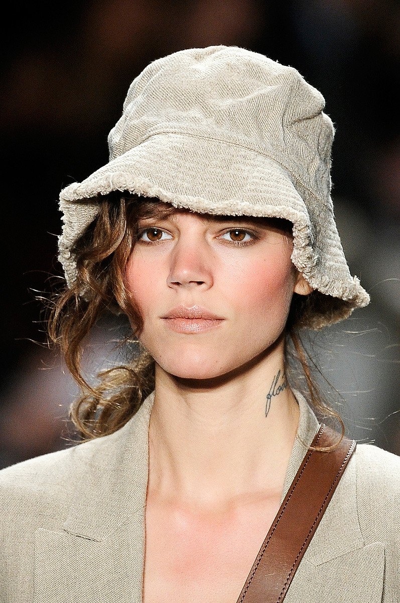 Freja wearing safari-inspired collection by Michael Kors.