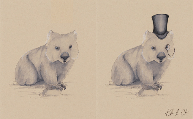 Winning Wombat just sold! Cheerio! (prints still available by request) http://www.etsy.com/shop/Randemporium (Pen and Marker)
