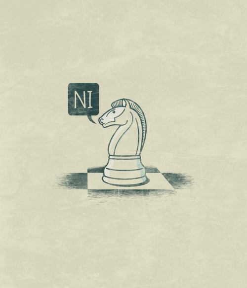 The Knight Who Said Ni - by John Tibbott Prints available at Society6 for $17.95