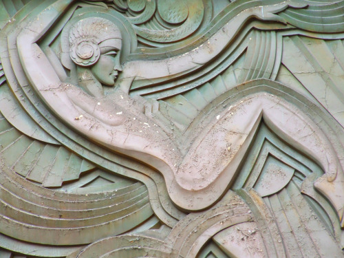 Detail, Folies Bergere, Paris, Franceby Alan Leclaire One of the most gorgeous pieces of facade sculpture I've ever seen.