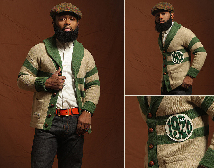 "thebkcircus:  The BKc ""Green Mile"" Shawl collar cardigan.  GEEEEZ."