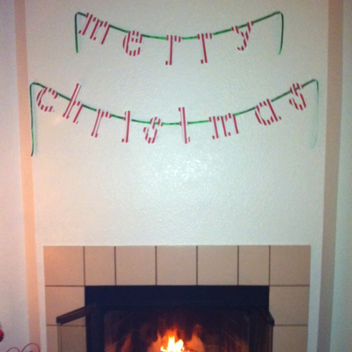 Craft of the day - I made us a Christmas banner!
