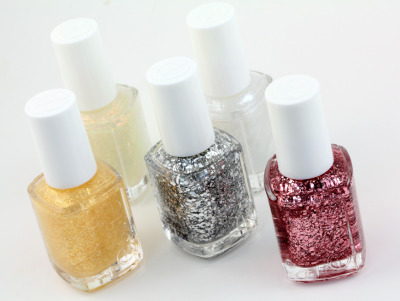 Get in the festive spirit with the Essie Luxeffects topcoat collection!