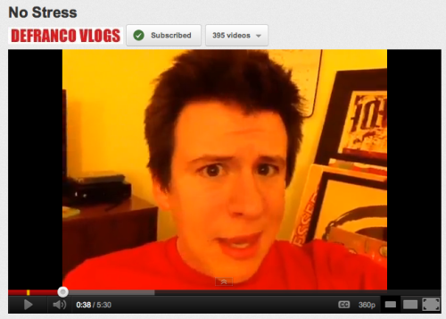 i was not expecting a Defranco Vlog tonight. made me happy :)