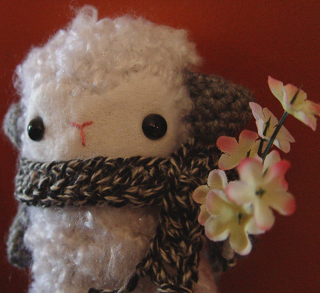 Valentine Lamb by yarniganrachel on Flickr.