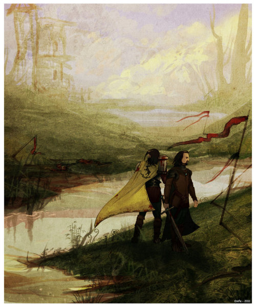 glitchinthematrixx:  Robert and Eddard by Enife