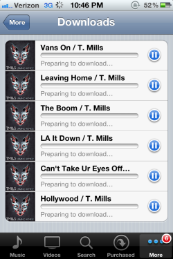 ilovetmills:  HOLY SHIT. LEAVING HOME IS ON ITUNES :) http://www.smarturl.it/leavinghomeep  YES!