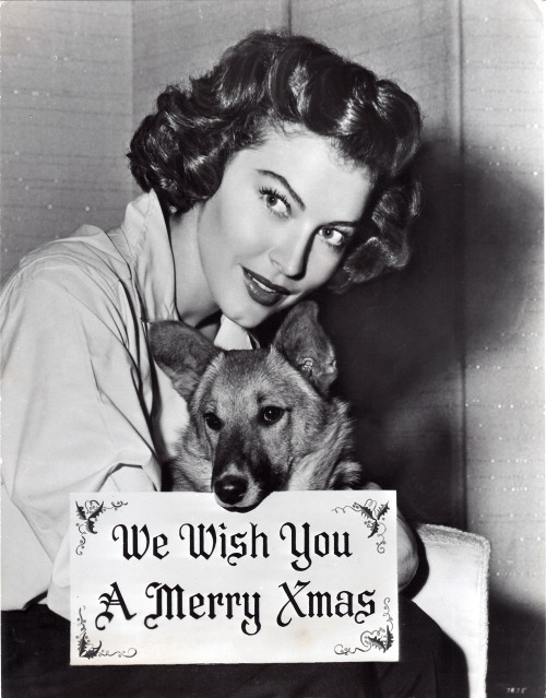 the-asphalt-jungle:   Ava Gardner (born on Christmas eve 1922) and a furry friend - c. 1940s
