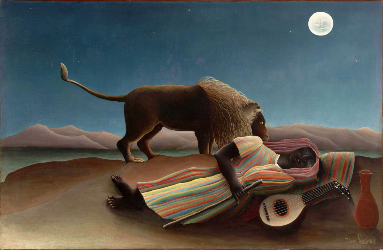 Goodnight everyone… Henri Rousseau, The Sleeping Gypsy (1897)