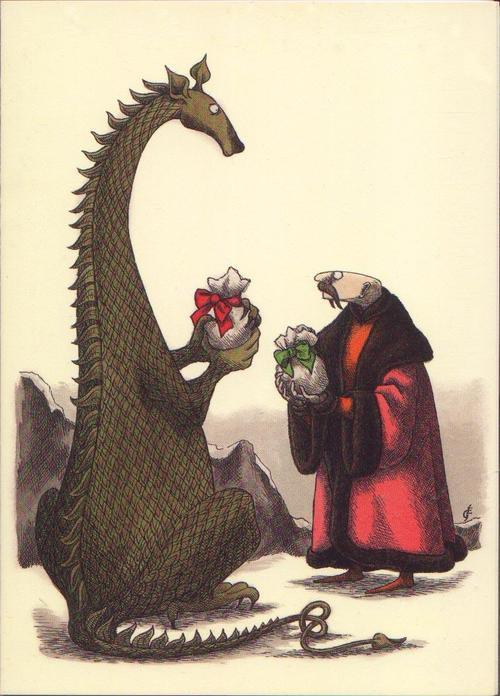 maudelynn:  Christmas Gifts, by Edward Gorey  great-tyrion: christmas morning in house targaryen  XD