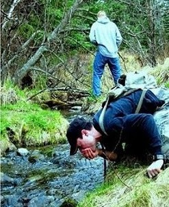 Drinking water from a stream - FAIL