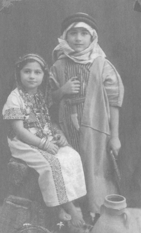 mon-b:  Edward Said & his sister, Palestine 1940