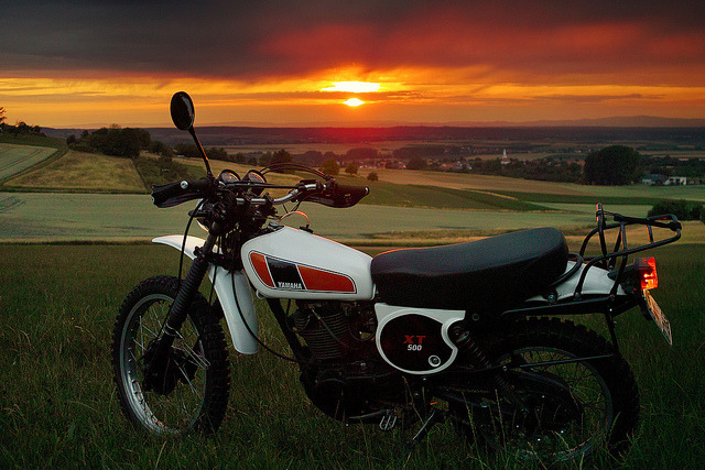 my XT 500 on my Flickr-Stream. This photo was taken at Otzberg/Odenwald (Germany) at april 2011 with a Sigma DP2