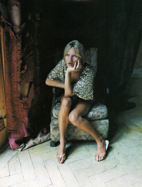 acceptable:  kate moss by corinne day for vogue uk december 2000