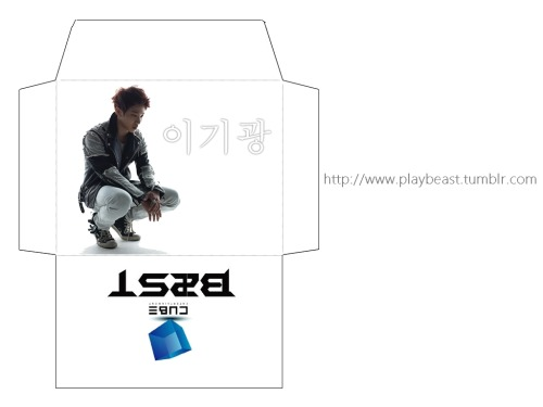 BEAST/B2ST 이기광 (GIKWANG/KIKWANG) Printable Envelope [fanmade, made by Varshini].Follow us at PLAYB2ST for more BEAST updates!