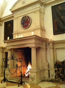 Fireplace in the Marmorsaal at Schloss Rosenburg.
