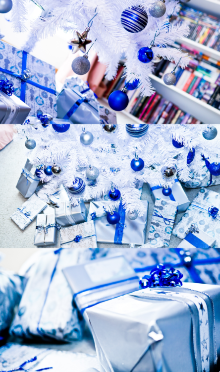 Blue+White+Silver Christmas by ~Kuukun